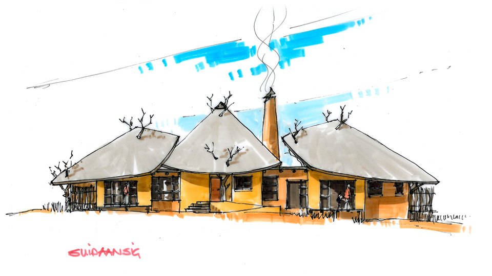 Thatch Construction Drawing